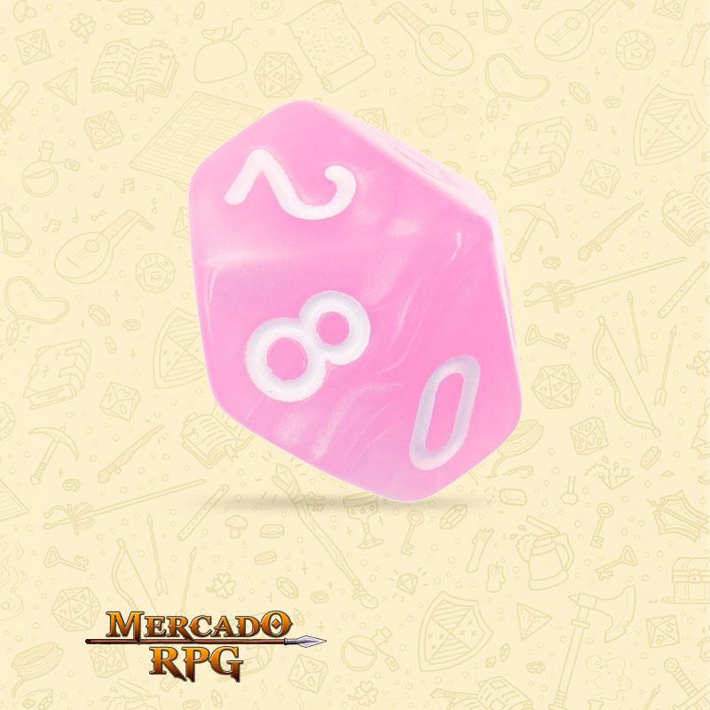Dado de RPG - D10  Pink Pearl Dice - Dez Lados - Mercado RPG