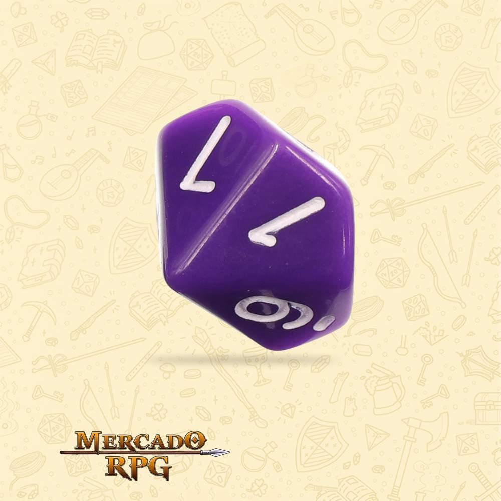 Dado de RPG - D10 Purple Opaque Dice - Dez Lados - Mercado RPG