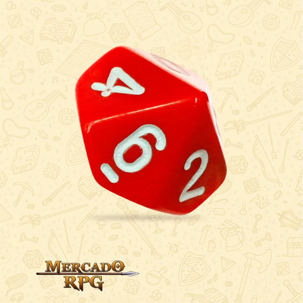 Dado de RPG - D10 Red Opaque Dice - Dez Lados - Mercado RPG