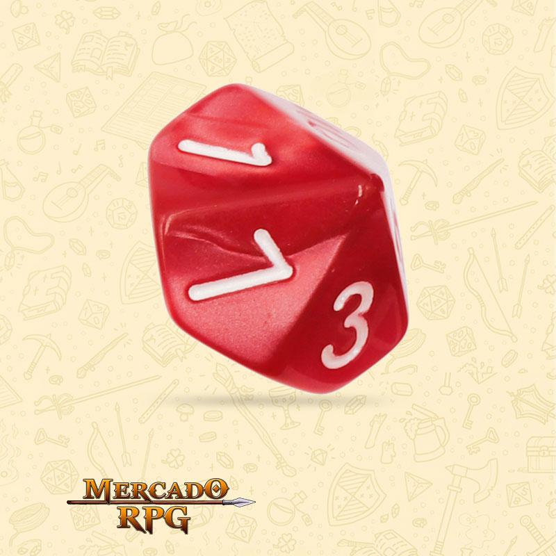 Dado de RPG - D10 Red Pearl Dice - Dez Lados - Mercado RPG