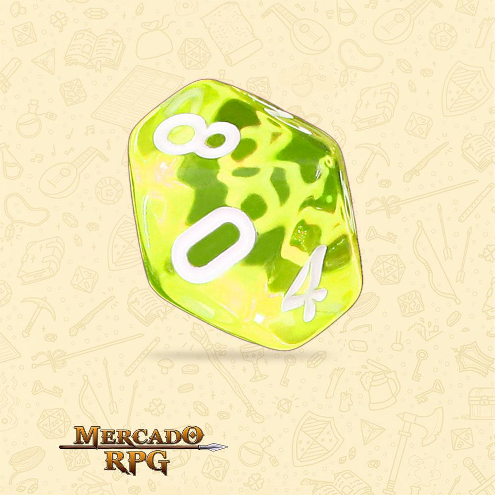 Dado de RPG - D10 Sun Gems Transparent Dice - Dez Lados - Mercado RPG