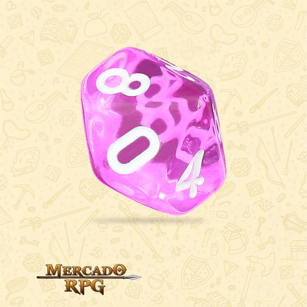 Dado de RPG - D10 Tyrian Gems Transparent Dice - Dez Lados - Mercado RPG