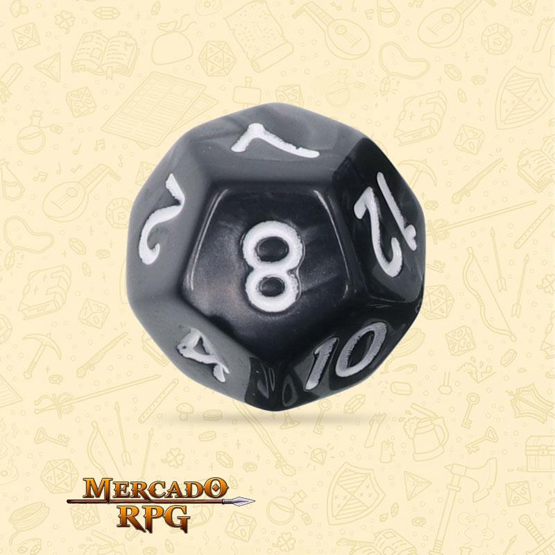Dado de RPG - D12 Black Pearl Dice - Doze Lados - Mercado RPG
