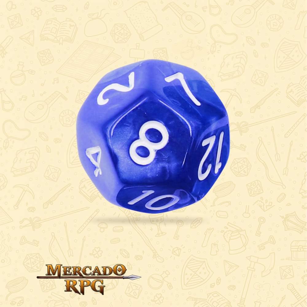 Dado de RPG - D12 Blue Pearl Dice - Doze Lados - Mercado RPG