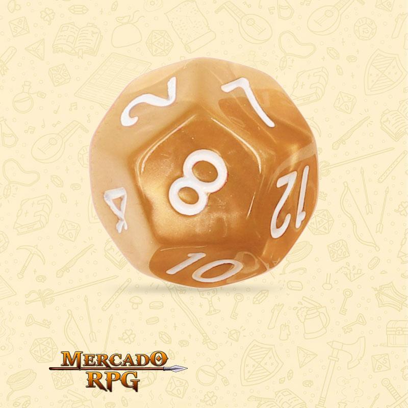 Dado de RPG - D12  Golden Pearl Dice - Doze Lados - Mercado RPG