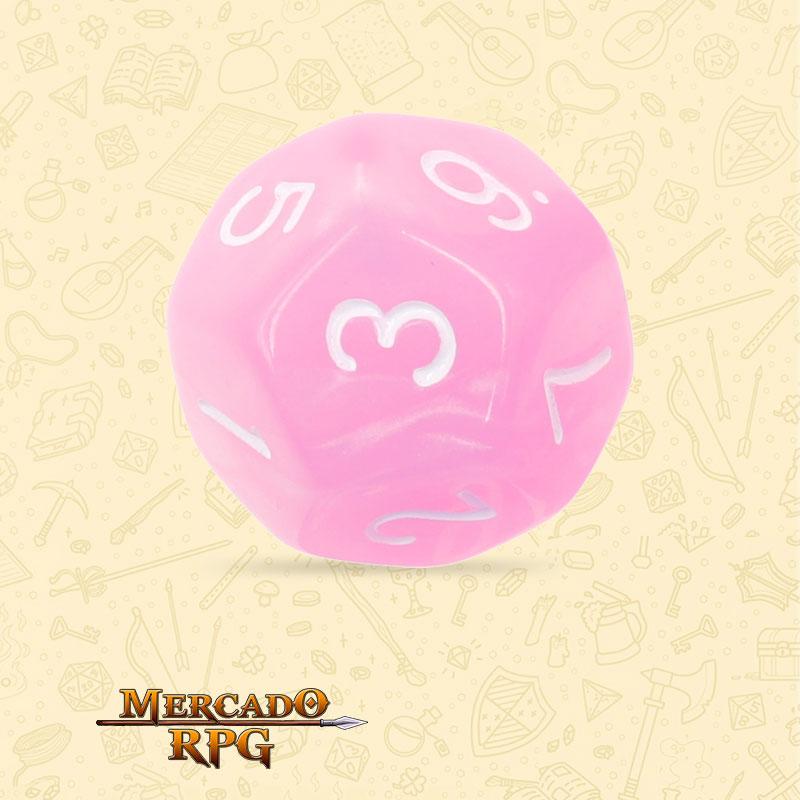 Dado de RPG - D12  Pink Pearl Dice - Doze Lados - Mercado RPG