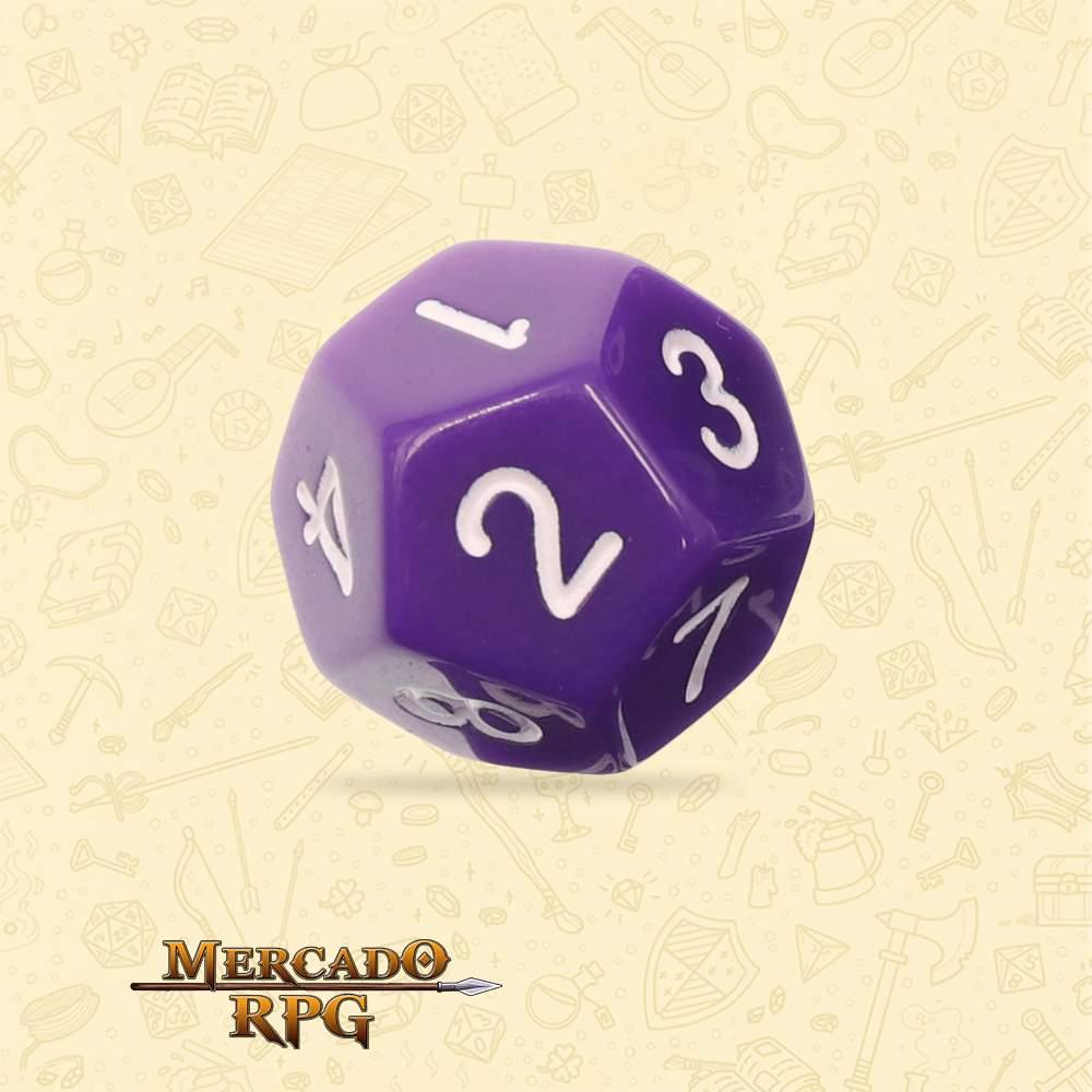 Dado de RPG - D12 Purple Opaque Dice - Doze Lados - Mercado RPG