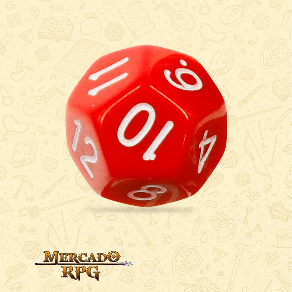 Dado de RPG - D12 Red Opaque Dice - Doze Lados - Mercado RPG