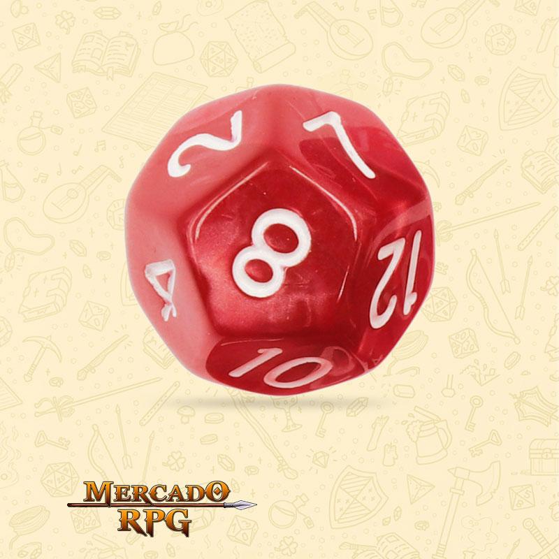 Dado de RPG - D12 Red Pearl Dice - Doze Lados - Mercado RPG