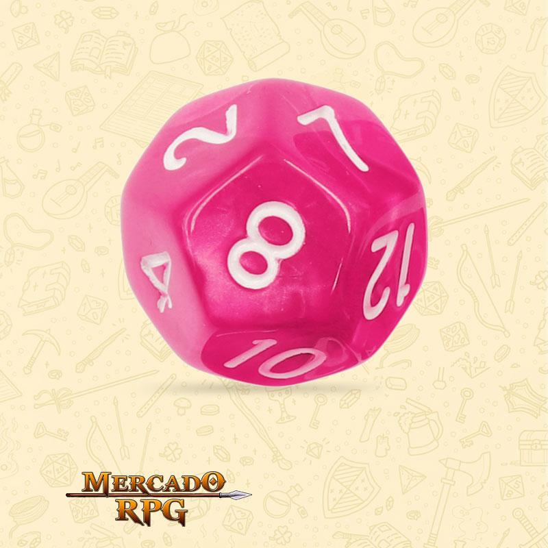 Dado de RPG - D12 Rose Red Pearl Dice - Doze Lados - Mercado RPG