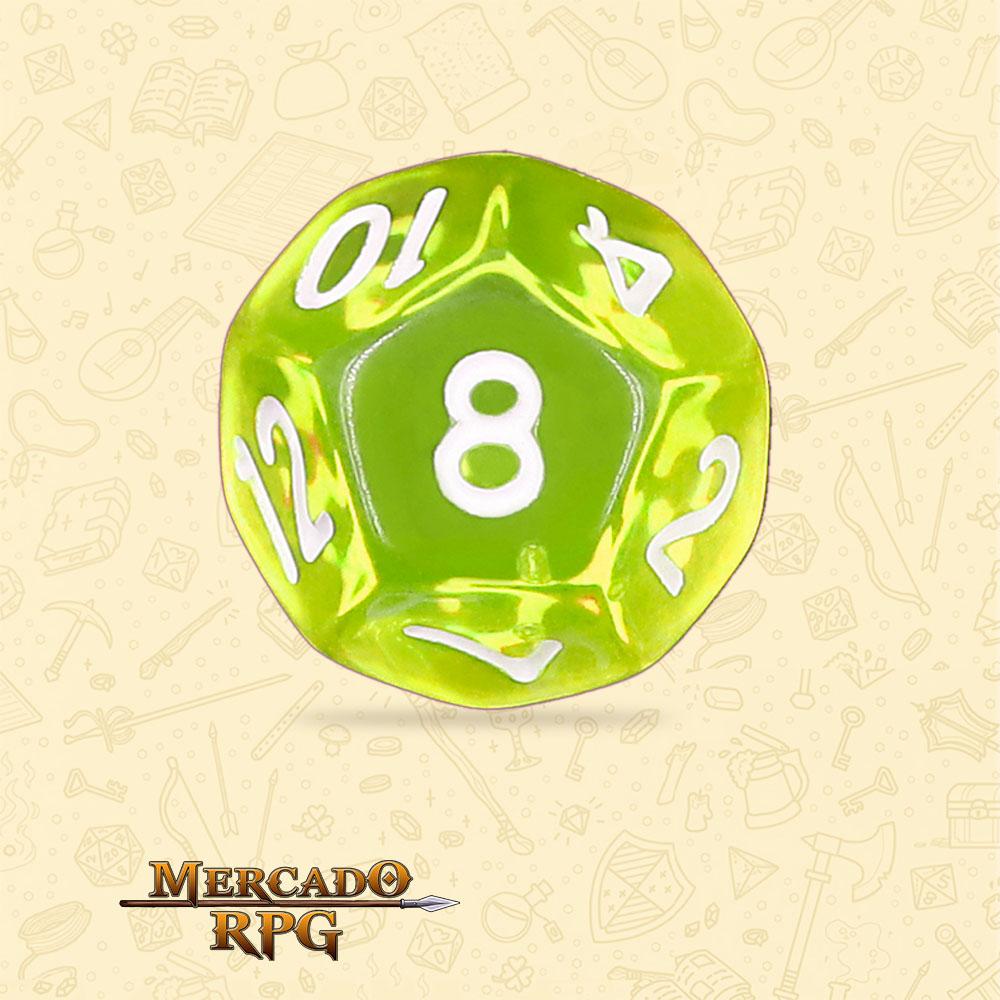 Dado de RPG - D12 Sun Gems Transparent Dice - Doze Lados - Mercado RPG