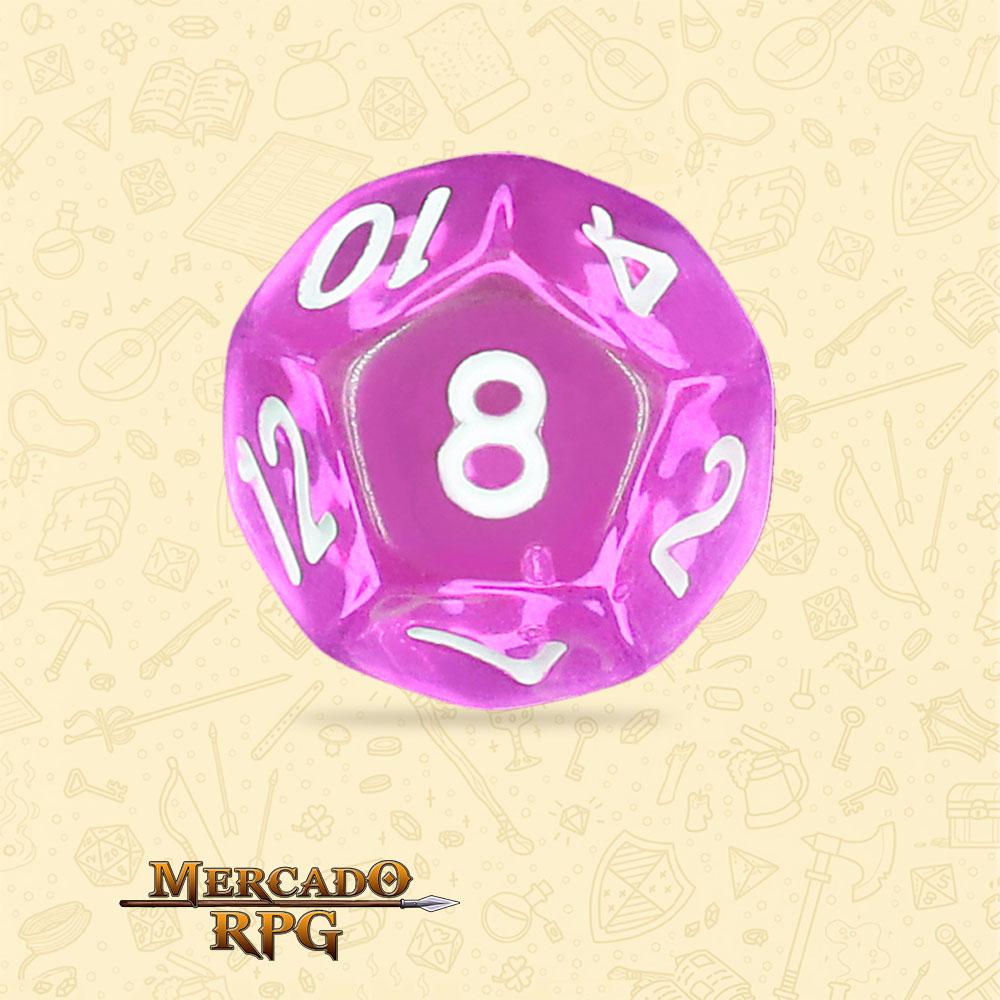 Dado de RPG - D12 Tyrian Gems Transparent Dice - Doze Lados - Mercado RPG