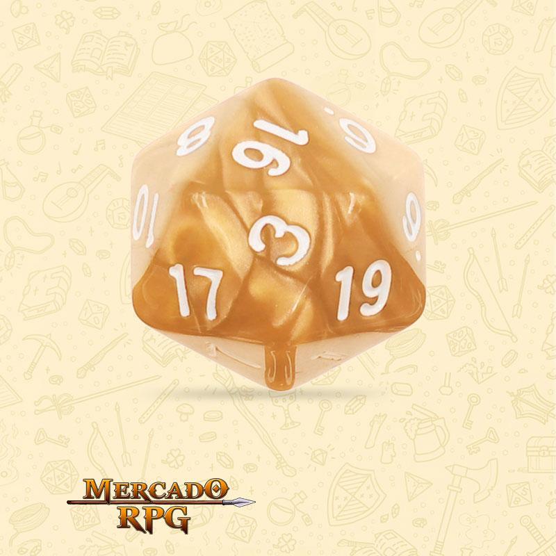 Dado de RPG - D20  Golden Pearl Dice - Vinte Lados - Mercado RPG