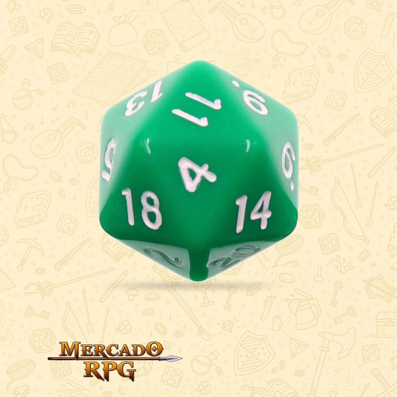 Dado de RPG - D20 Green Opaque Dice - Vinte Lados - Mercado RPG