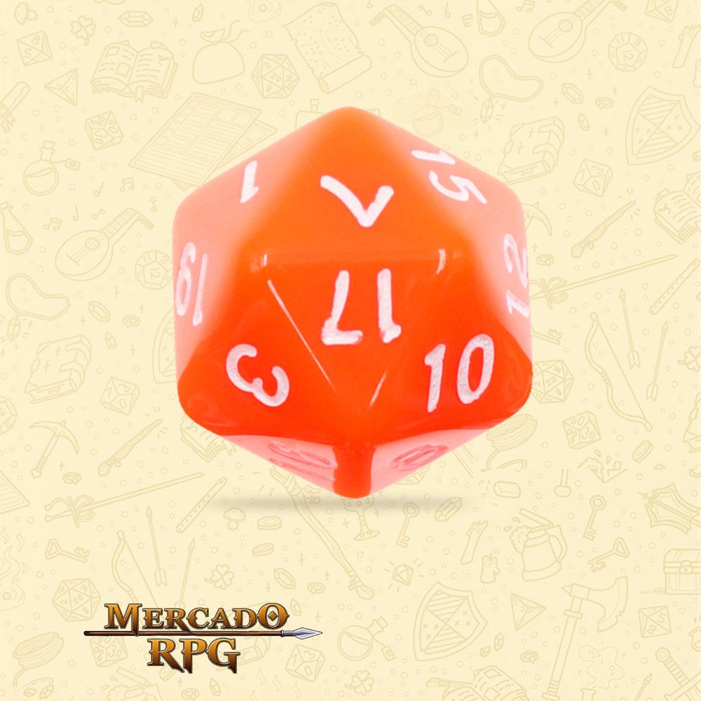 Dado de RPG - D20 Orange Opaque Dice - Vinte Lados - Mercado RPG