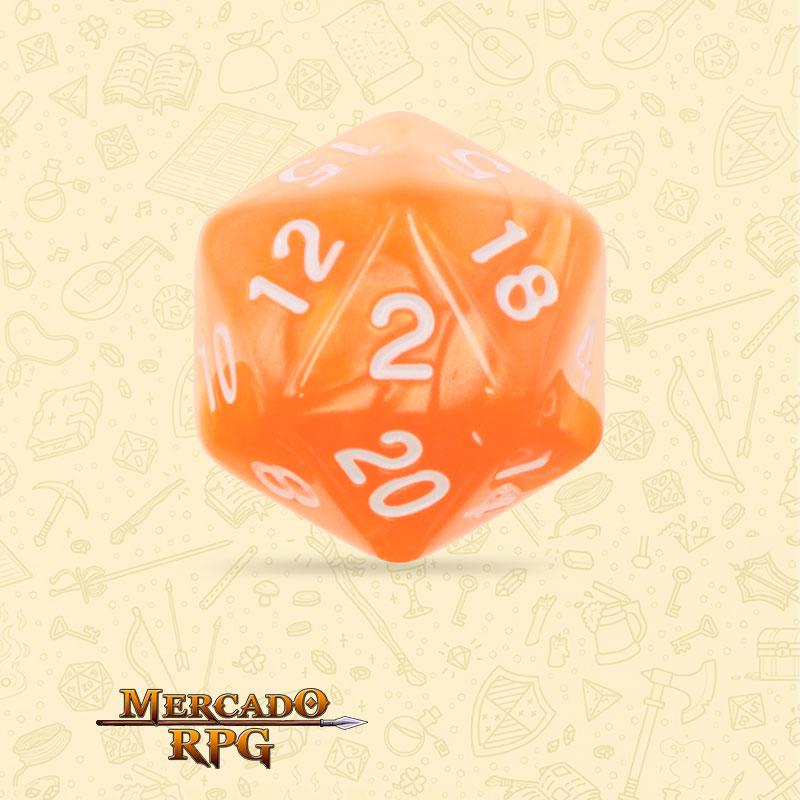 Dado de RPG - D20 Orange Pearl Dice - Vinte Lados - Mercado RPG