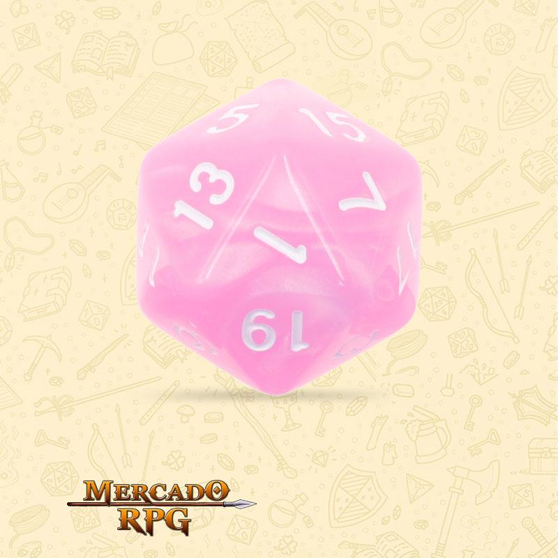 Dado de RPG - D20  Pink Pearl Dice - Vinte Lados - Mercado RPG