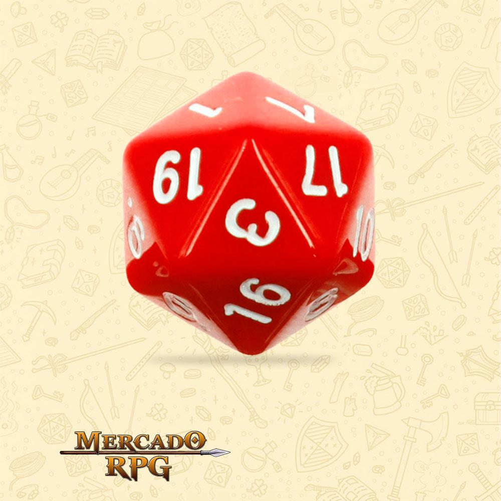 Dado de RPG - D20 Red Opaque Dice - Vinte Lados - Mercado RPG