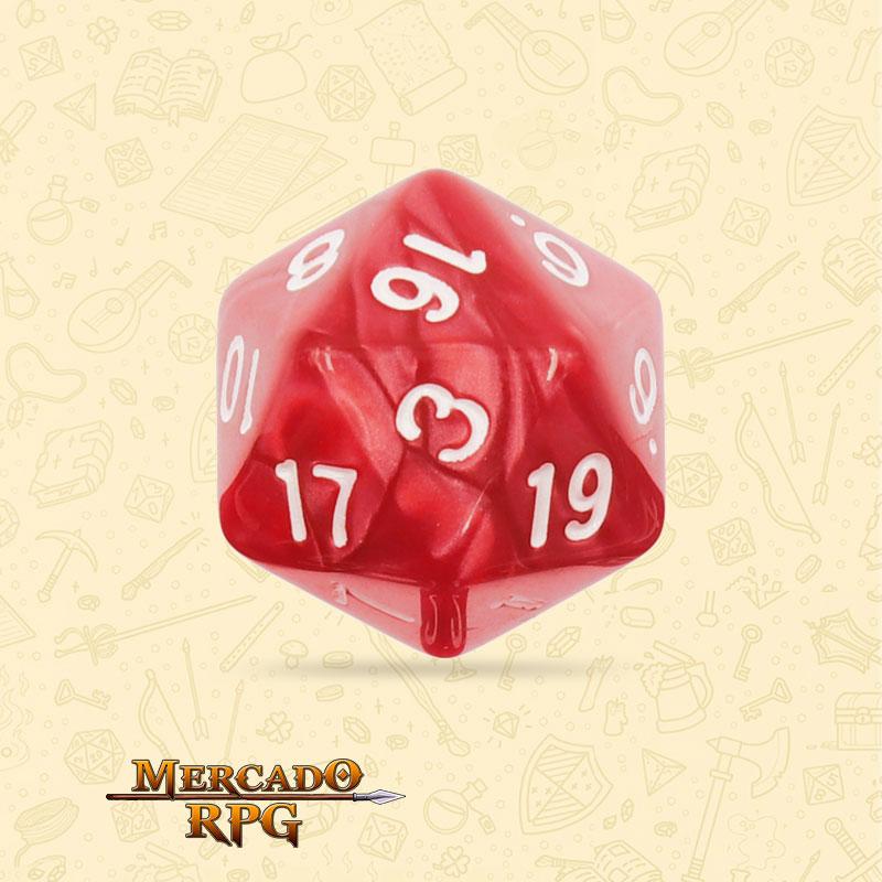 Dado de RPG - D20 Red Pearl Dice - Vinte Lados - Mercado RPG