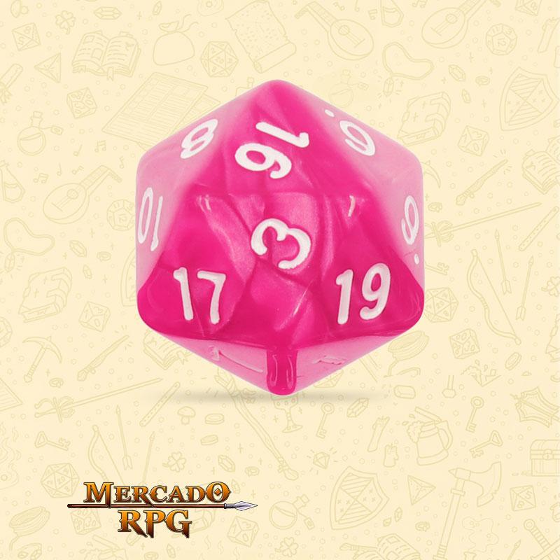 Dado de RPG - D20 Rose Red Pearl Dice - Vinte Lados - Mercado RPG
