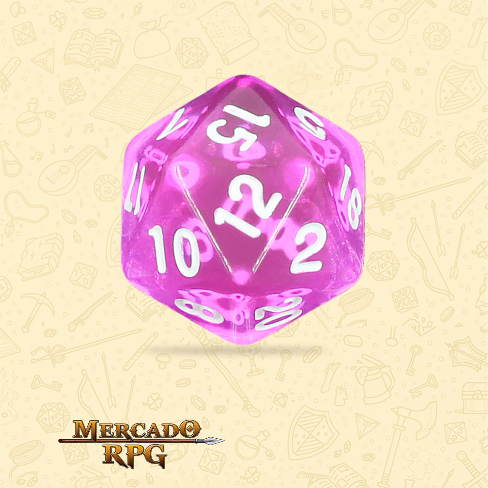 Dado de RPG - D20 Tyrian Gems Transparent Dice - Vinte Lados - Mercado RPG