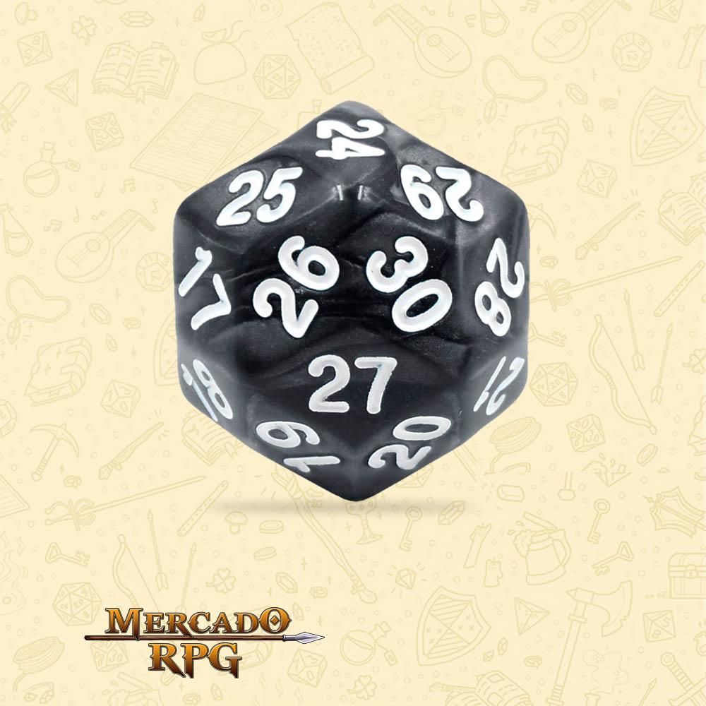 Dado de RPG - D30 Black Pearl Dice - Trinta Lados - Mercado RPG