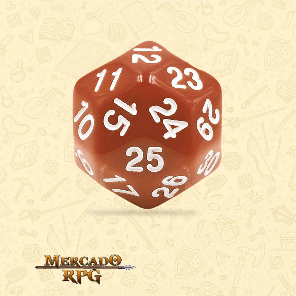 Dado de RPG - D30 Brown Opaque Dice - Trinta Lados - Mercado RPG
