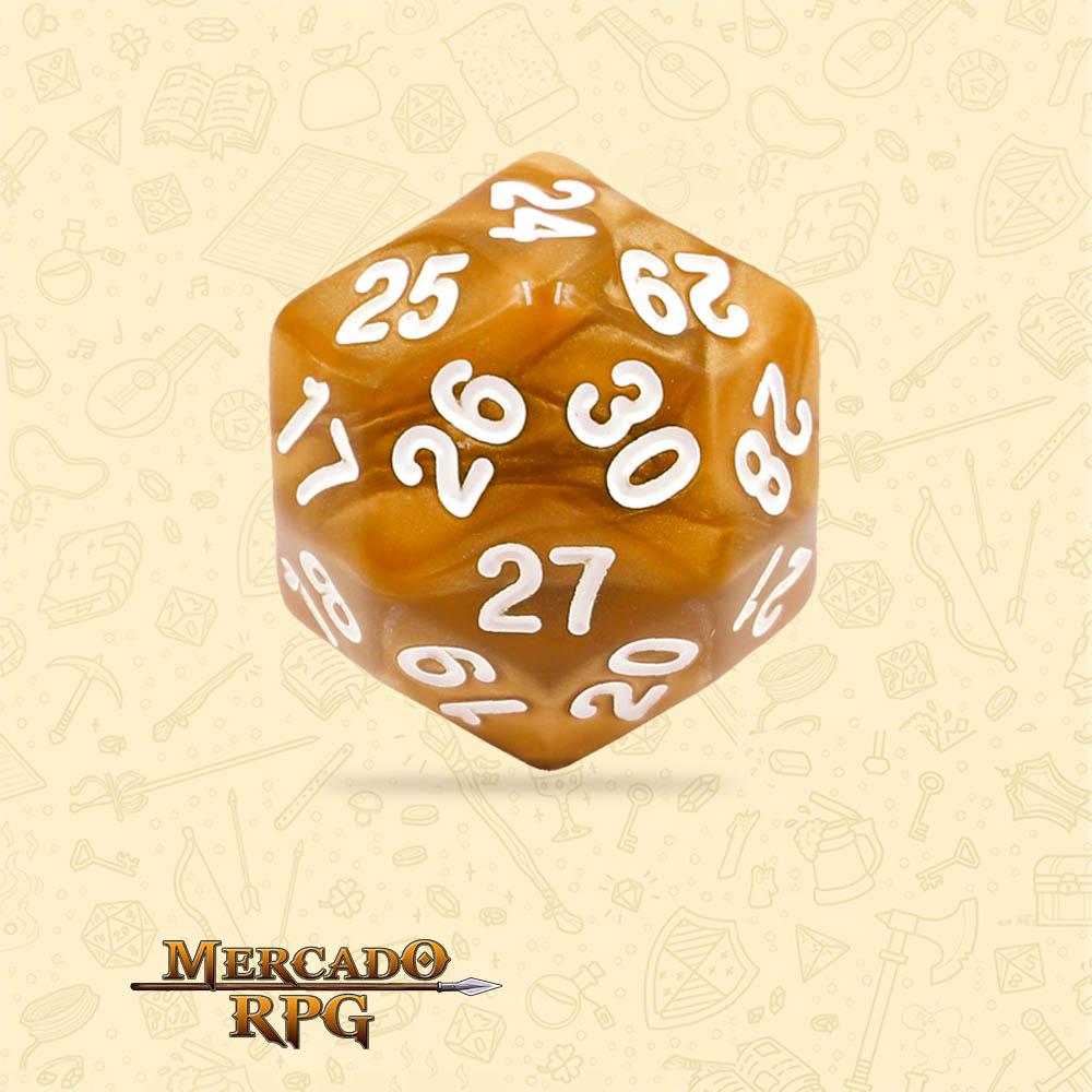 Dado de RPG - D30 Golden Pearl Dice - Trinta Lados - Mercado RPG