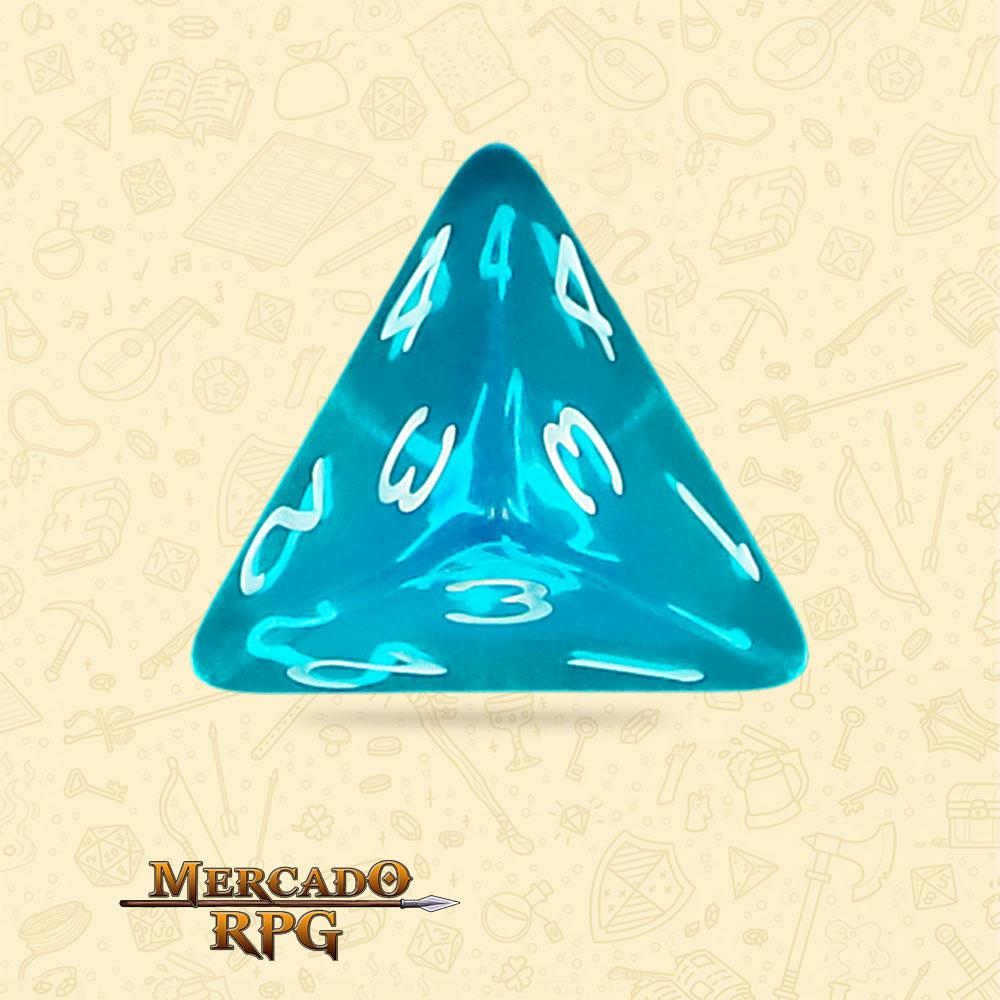 Dado de RPG - D4 Azure Gems Transparent Dice - Quatro Lados - Mercado RPG