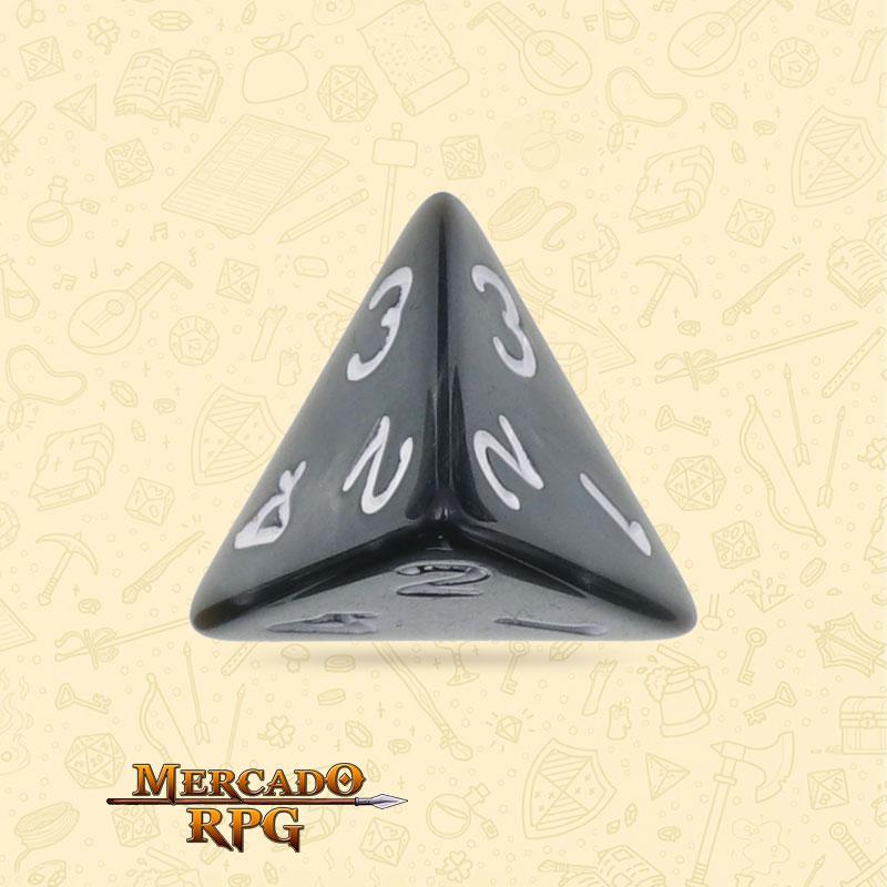 Dado de RPG - D4 Black Pearl Dice - Quatro Lados - Mercado RPG