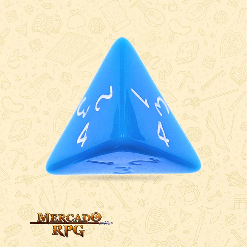 Dado de RPG - D4 Blue Opaque Dice - Quatro Lados - Mercado RPG