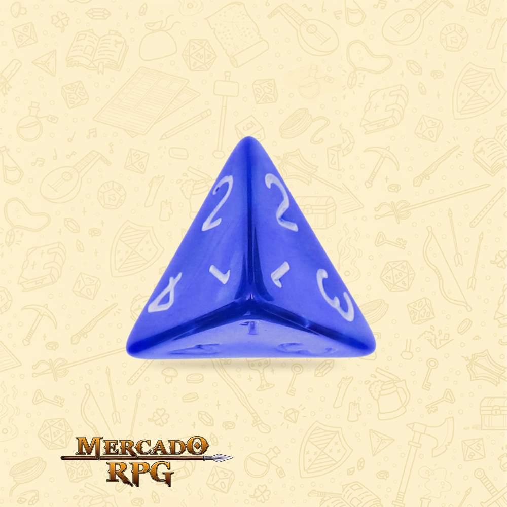 Dado de RPG - D4 Blue Pearl Dice - Quatro Lados - Mercado RPG