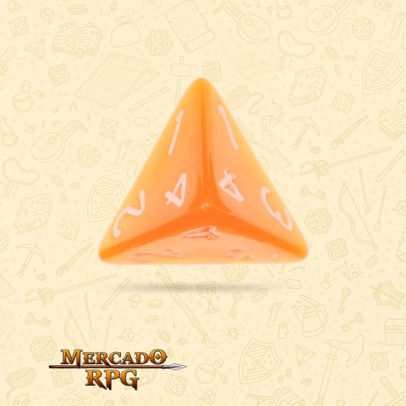 Dado de RPG - D4 Orange Pearl Dice - Quatro Lados - Mercado RPG