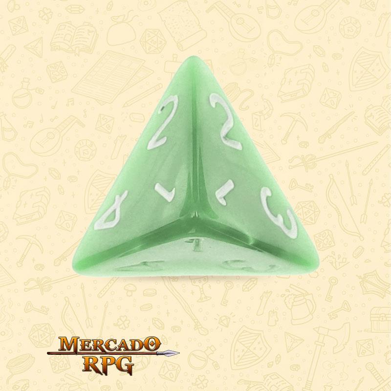 Dado de RPG - D4  Pale Green Pearl Dice - Quatro Lados - Mercado RPG