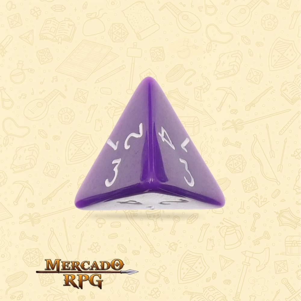 Dado de RPG - D4 Purple Opaque Dice - Quatro Lados - Mercado RPG