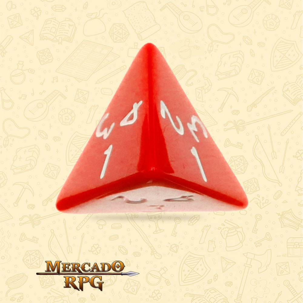 Dado de RPG - D4 Red Opaque Dice - Quatro Lados - Mercado RPG