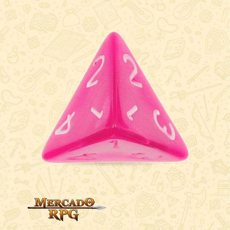 Dado de RPG - D4 Rose Red Pearl Dice - Quatro Lados - Mercado RPG