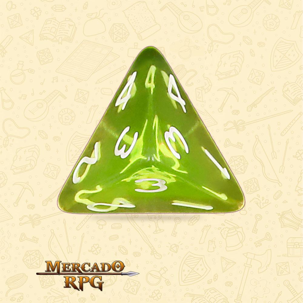 Dado de RPG - D4 Sun Gems Transparent Dice - Quatro Lados - Mercado RPG