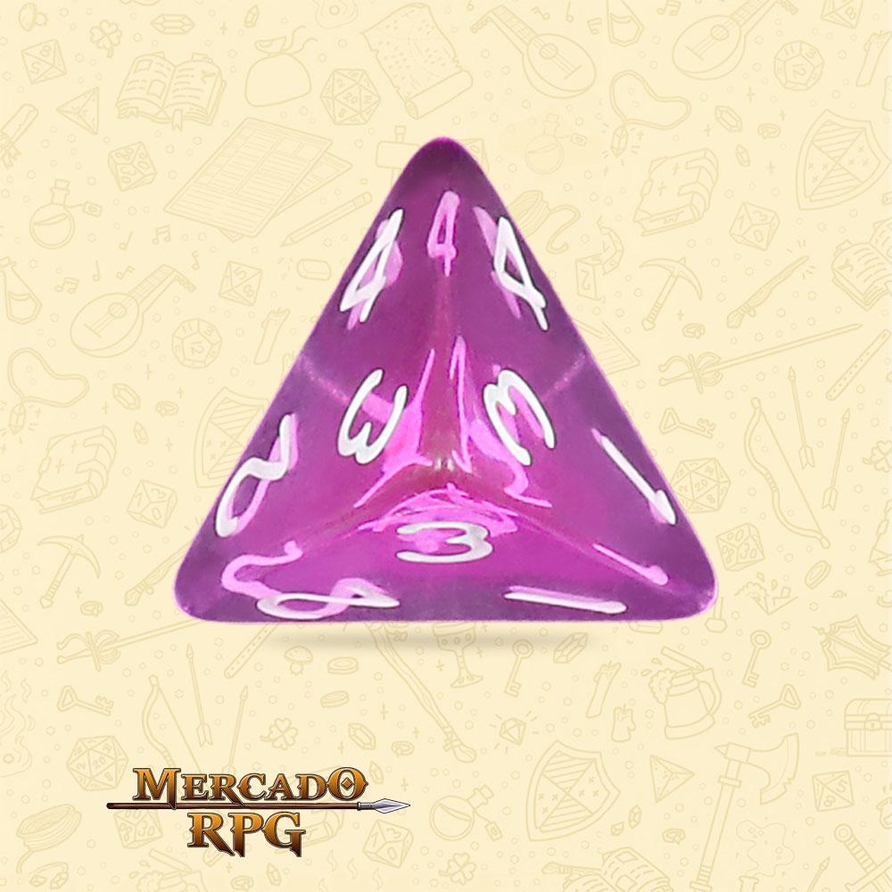 Dado de RPG - D4 Tyrian Gems Transparent Dice - Quatro Lados - Mercado RPG