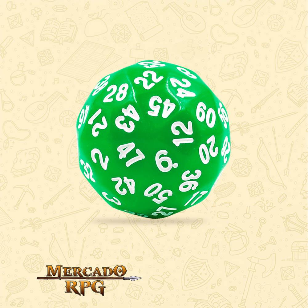 Dado de RPG - D60 Green Opaque Dice - Sessenta Lados - Mercado RPG