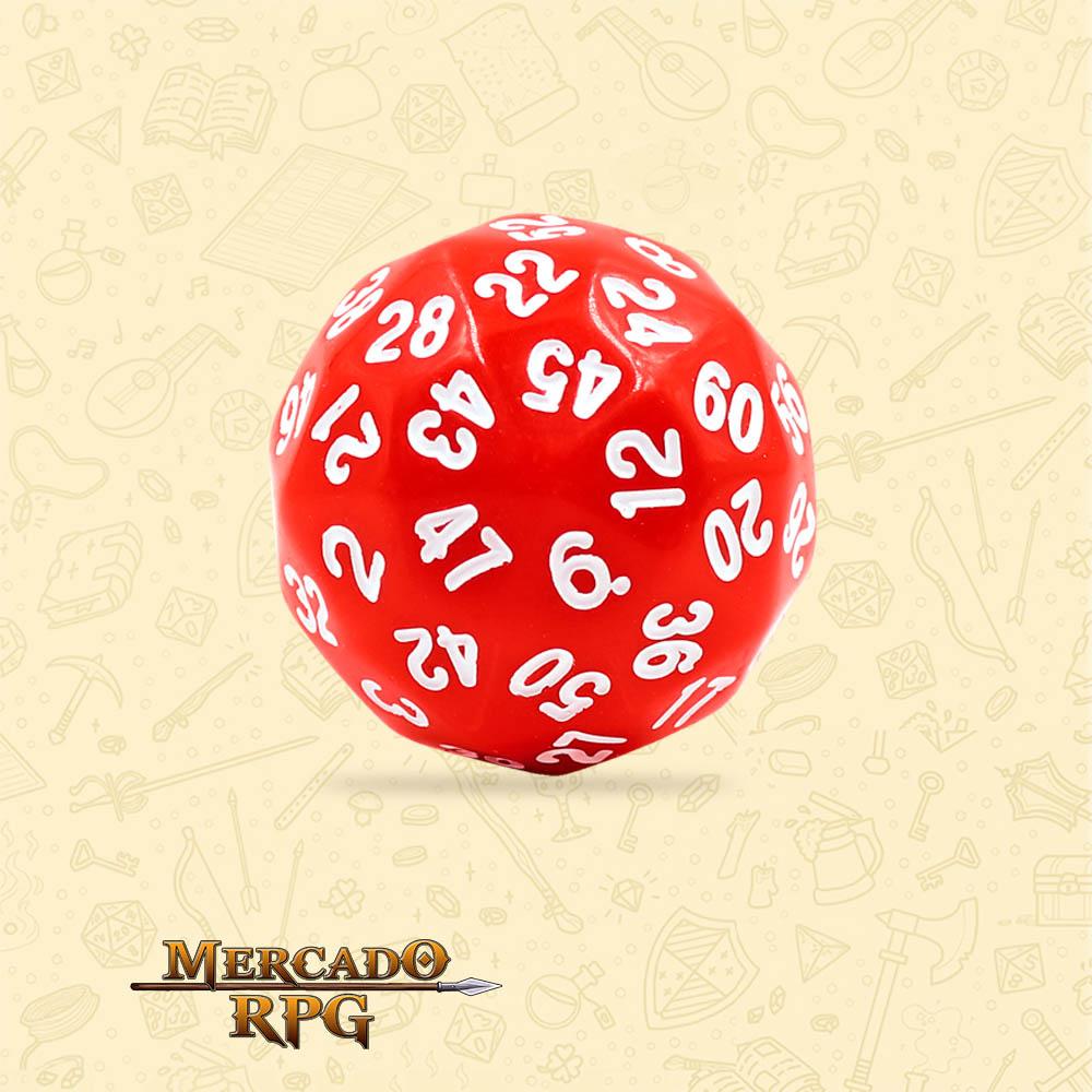 Dado de RPG - D60 Red Opaque Dice - Sessenta Lados - Mercado RPG