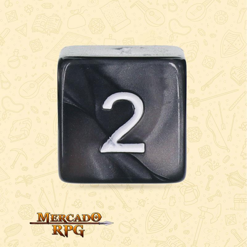 Dado de RPG - D6 Black Pearl Dice - Seis Lados - Mercado RPG
