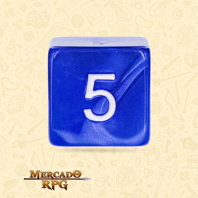 Dado de RPG - D6 Blue Pearl Dice - Seis Lados - Mercado RPG