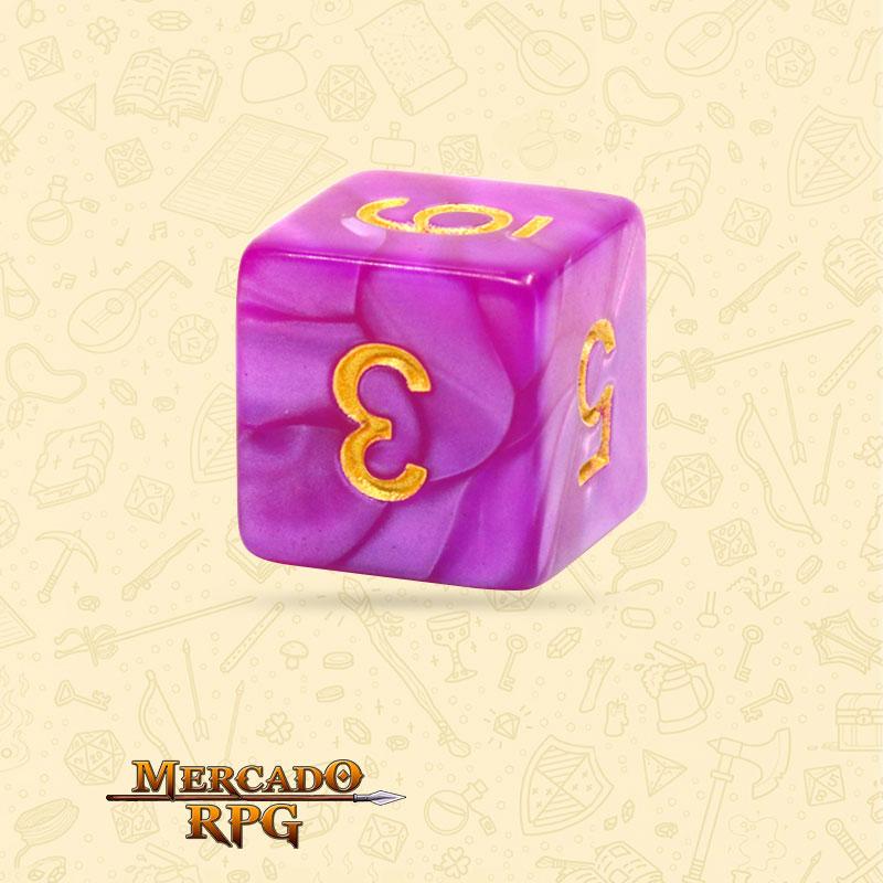 Dado de RPG - D6 Dark Purple Pearl Dice - Seis Lados - Mercado RPG