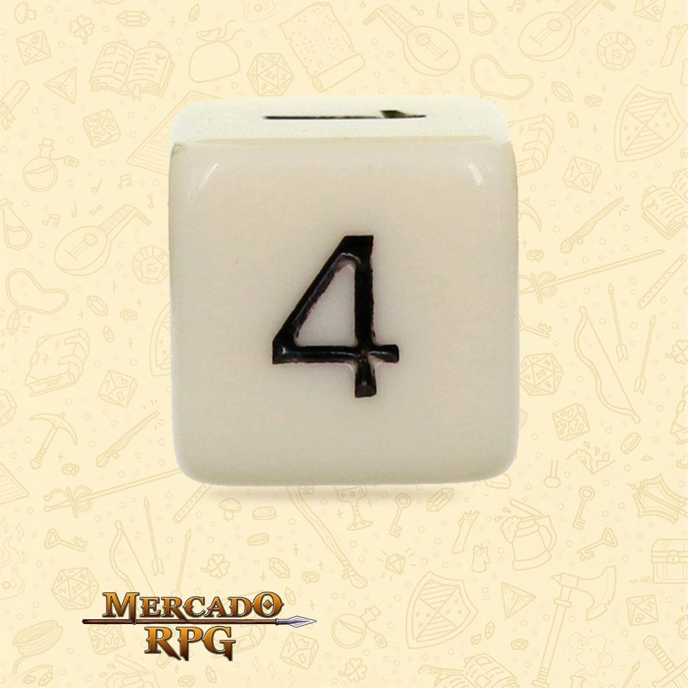 Dado de RPG - D6 Ivory Opaque Dice - Seis Lados - Mercado RPG