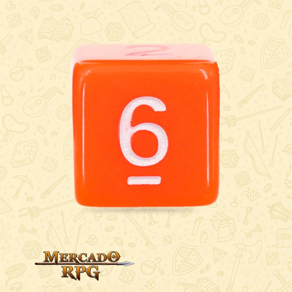 Dado de RPG - D6 Orange Opaque Dice - Seis Lados - Mercado RPG