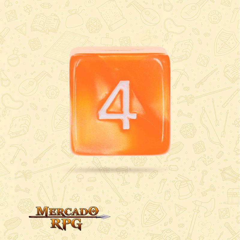 Dado de RPG - D6 Orange Pearl Dice - Seis Lados - Mercado RPG