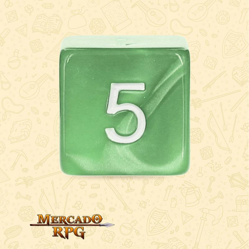 Dado de RPG - D6  Pale Green Pearl Dice - Seis Lados - Mercado RPG