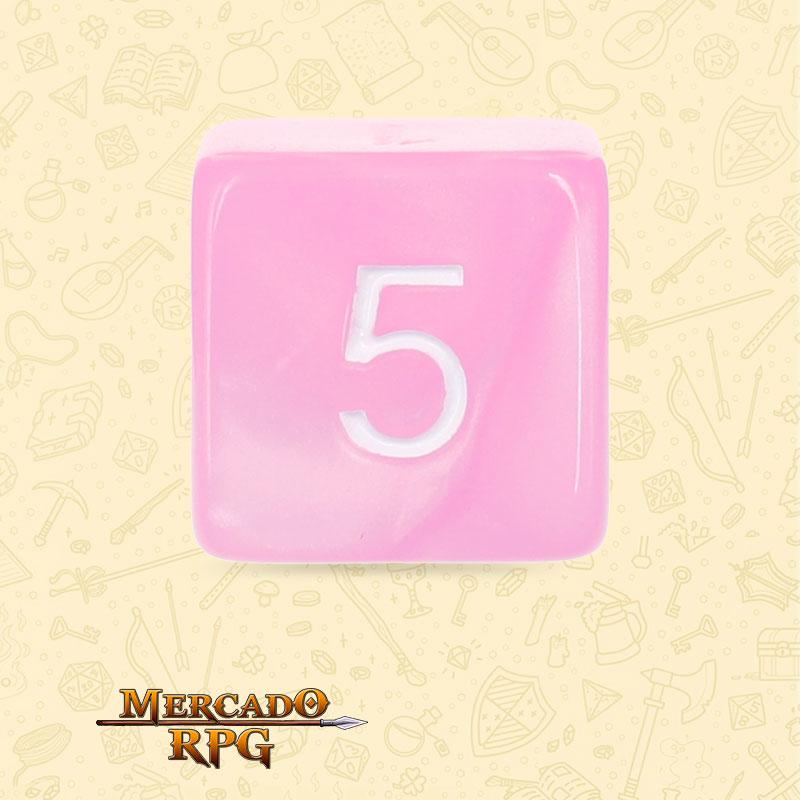 Dado de RPG - D6  Pink Pearl Dice - Sies Lados - Mercado RPG