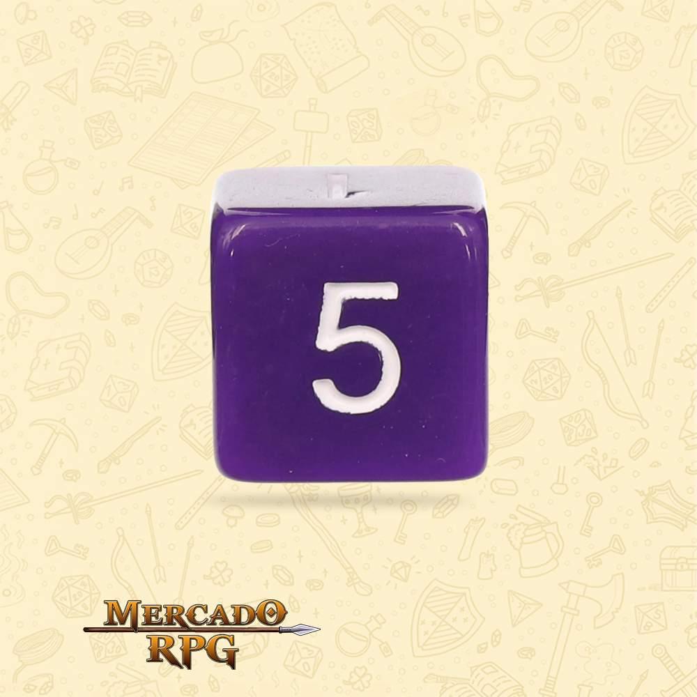 Dado de RPG - D6 Purple Opaque Dice - Seis Lados - Mercado RPG